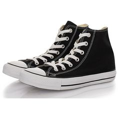 Converse Sneakers Classic Canvas black found on Polyvore
