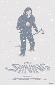"""mattrobot: """"THE SHINING fan poster by Matt Talbot Today's poster is for one of my all-time favorite movies–horror or otherwise–THE SHINING! Only five days to go this month. Which films will I illustrate for the final days? Even I don't know! """""""