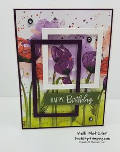 Peaceful Poppies Suite | Kylie's Demonstrator Training Blog Hop December 2019 - Birch Bay Stamping Birthday Cards, Happy Birthday, Poppy Cards, Poppy Pattern, Stampin Up Cards, Creative Inspiration, Poppies, Card Stock, Card Ideas