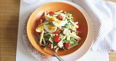 Whip up a colourful, tasty salad in minutes with this healthy tuna pasta dish.