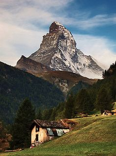 The Matterhorn (German), Monte Cervino (Italian) or Mont Cervin (French), is a mountain in the Pennine Alps on the border between Switzerland and Italy. Its summit is 4,478 meters (14,690 ft) high, making it one of the highest peaks in the Alps.