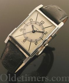 1930s steel vintage Jaegar LeCoultre watch