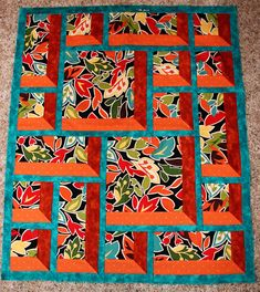 window pane quilt block | love the three-dimensional look. It was purely by chance that we got ...