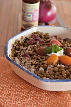 vegetarian recipe sesame lentil salad