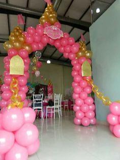 Princess Birthday Party Decorations, Disney Princess Birthday Party, Barbie Birthday Party, Princess Theme Party, Birthday Party Themes, Deco Ballon, Princess Balloons, Birthday Ideas For Her, Ballons