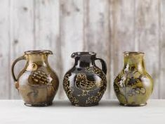 Hannah McAndrew is an award winning potter, based in South West Scotland, producing hand thrown earthenware pots specialising in slipware and wood firing. Various Artists, Earthenware, Pottery, Vase, Ceramics, Surface, Japanese Ceramics, Flower Vases, Ceramic Art