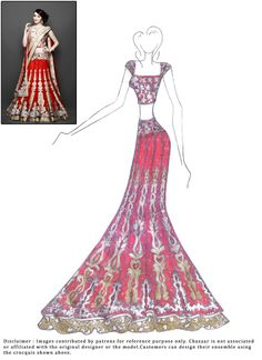 #DIY #Red Net #Lehenga Choli