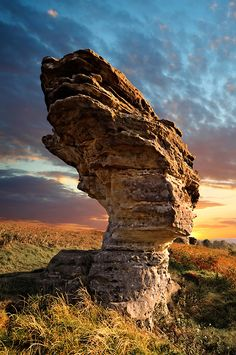 Bridestone rock formation in Dalby forest. North Yorks Moors National Park, Yorkshire, England