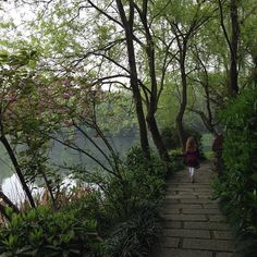 West Lake in Hangzhou, China is a UNESCO World Heritage site.