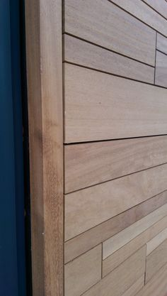 Iroko cladding detail   Riverside House   Henley   Adlon Construction