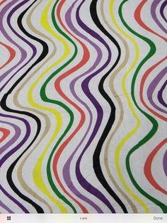 Painterly fabric design