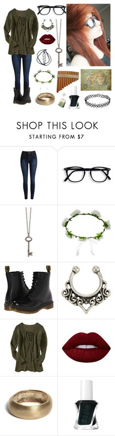 """""""Peter Pan gender bender"""" by xxkrysxx ❤ liked on Polyvore featuring Zad, Accessorize, Dr. Martens, Old Navy, Lime Crime, Bare Collection, Essie, peterpan and GenderBender"""