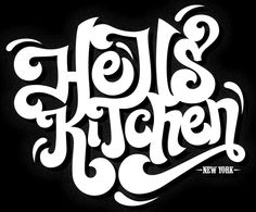 Hells Kitchen type by Toby Caves, via Behance