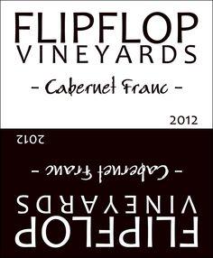 Flip Flop Custom Wine Label