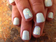 Love the bright white and glitter...shellac!