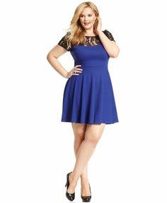 plus size dress a line electric
