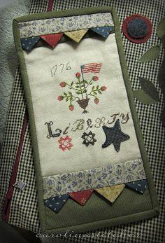 Carolina Stitcher blog: Liberty finish  (...cr...love the prairie points along with the cross stitch)