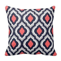 Gray,Coral Pink and Navy Blue Moroccan Pillow Home Sofa Decorative 18X18 Inch Square Throw Pillow Case Decor Cushion Covers Poppy-Love http://www.amazon.com/dp/B015E2I474/ref=cm_sw_r_pi_dp_mtmPwb01631RP