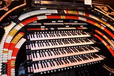 The Mighty Wurlitzer console at Organ Stop Pizza in Mesa, Arizona