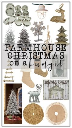 Beautiful Farmhouse Christmas Decor on a Budget.  Adorable decor....incredible prices.  /walmart/ #betterliving #ad