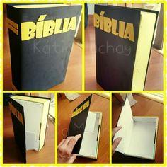 Bíblia. Puede usarse para el juego de la busqueda de tesoros o para hacer un regalo a los padres.