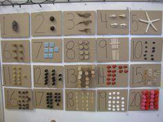 Loose Parts Number Boards Reggio Emilia Classroom, Eyfs Classroom, Classroom Displays, Maths Eyfs, Physics Classroom, School Displays, Classroom Setup, Eyfs Activities, Nursery Activities