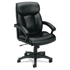 VL151 Series Executive High-Back Chair, Black Leather #basyx #hon #officechair