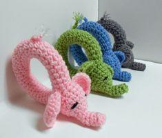 Crochet Elephant Rattle Pattern by yarnabees on Etsy Knit Or Crochet, Crochet For Kids, Crochet Crafts, Yarn Crafts, Crochet Projects, Crochet Baby Toys, Crochet Dolls, Baby Knitting, Amigurumi Patterns