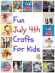 Easy patriotic crafts for July 4th!