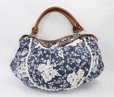 Tasche blau/weiss mit Muster Passion, Blue, Taschen, Pattern