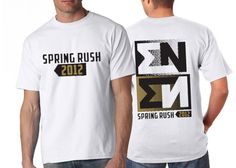 "Fraternity Rush Shirts ""Spring Rush Shirt 2"" Design #Greek #Fraternity #Clothing #Recruitment #Rush"