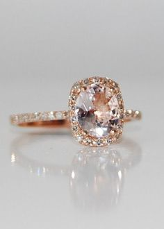 Peach Champagne Sapphire Ring. idea, dream ring, diamond rings, engagements, futur thing, wedding rings, jewelri, engag ring, engagement rings