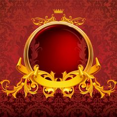 Red and gold decorative frame vector background shading Gold And Black Background, Green Background Video, Artsy Background, Golden Background, Light Background Images, Textured Background, Vector Background, 2048x1152 Wallpapers, Photo Collage Template