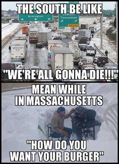 The South vs. New England