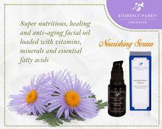 Kimberly Parry Organics Nourishing Serum moisturizes, heals and reconditions your skin #Kimberlyparry #Serum #Skincare #Organics #Beauty