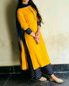 Kurti Latest Designs - The handmade craft clothing kurti Simple Kurta Designs, Kurta Designs Women, Kurti Sleeves Design, Kurta Neck Design, Dress Neck Designs, Neckline Designs, Sleeve Designs, Salwar Pattern, Dress Indian Style