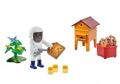Playmobil Add On #6573 Beekeeper with Hive - New Factory Sealed 4008789065735 | eBay
