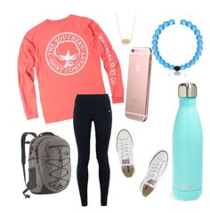 """""""School tomorrow """" by jadenriley21 on Polyvore featuring S'well, NIKE, The North Face, Kendra Scott and Converse"""