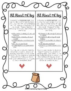 (free) All About Me Bag labels for Back to School - personalized for K-3 grade classrooms