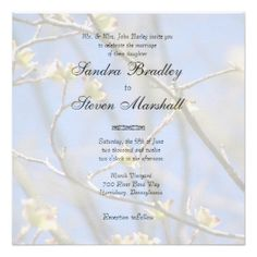 SPRING BLOSSOMS SET Spring Blossoms Wedding Invitation Set