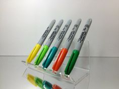 Amazon.com: Acrylic 5-Pen Stand (Clear): Office Products
