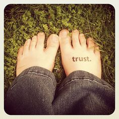 A simple yet profoundly important reminder. :: trust, a soul mantra temporary tattoo set