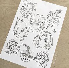 Naruto Sketch Drawing, Naruto Drawings, Naruto Art, Anime Naruto, Drawing Sketches, Mini Tattoos, Black Tattoos, Body Art Tattoos, Naruto Tattoo