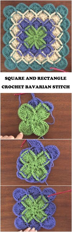 Crochet Square And Rectangle In Bavarian Stitch