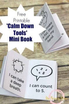 These 8 ways kids can calm down anywhere are great tools for helping kids when upset. Grab the printable mini book so that kids really can do these anywhere!