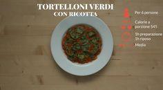 Tanti gustosi spinaci sono la base per questo ripieno: guarda come farlo con la video ricetta del tortelloni di ricotta burro e oro su Sale&Pepe.