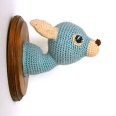 Doe a Deer Crochet Taxidermy in Turquoise and by MinistryofCraft