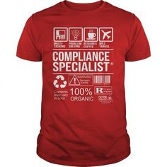 Awesome Tee For Compliance Specialist T Shirts, Hoodies. Get it now ==► https://www.sunfrog.com/LifeStyle/Awesome-Tee-For-Compliance-Specialist-103634932-Red-Guys.html?41382