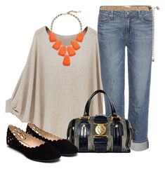 Polyvore, fashion, style, Paige Denim, Gucci and Kendra Scott. Sumer sweaters. Boyfriend jeans. Summer outfits. Fashion for women over 40.