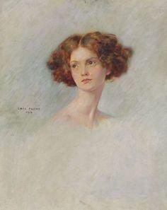 Emil Fuchs (American, 1866-1929)  Head of a Girl